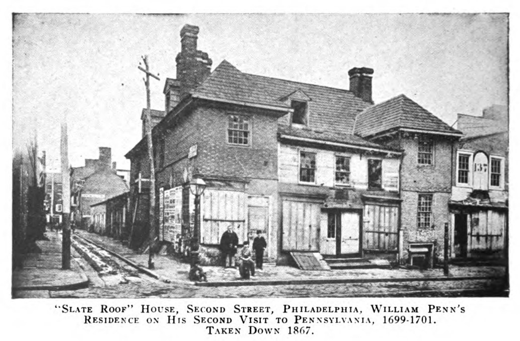 A drawing of the house where Hannah initially stayed for two years after arriving to Pennsylvania