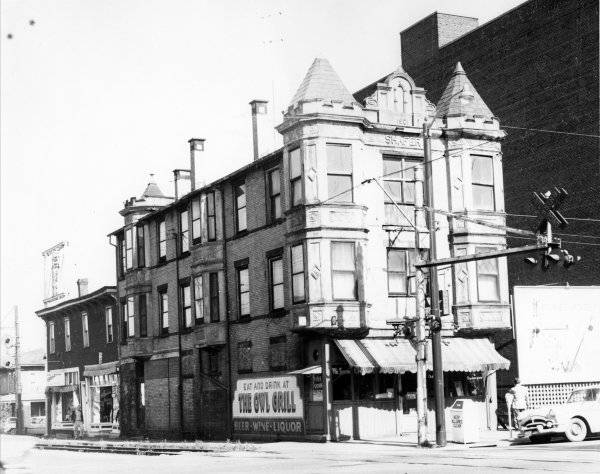 The Owl Grill located in the Shafer Building on the northeast corner of Main Street and Mechanic Avenue. The Shafer Building was built in 1901.