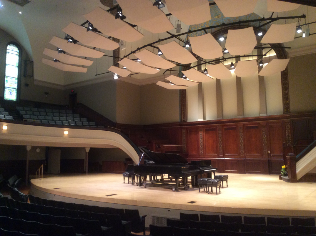 The stage to what is now the Hochstein School of Music and Dance