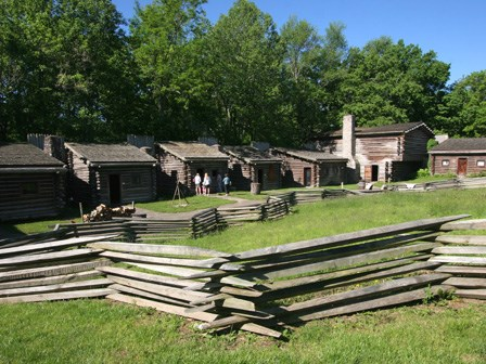 Replicas of the cabins used in the fort.
