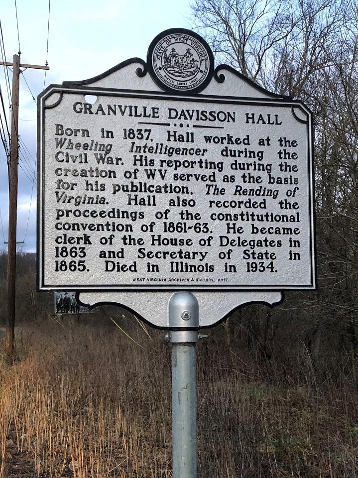 Granville Davisson Hall Highway Historical Marker