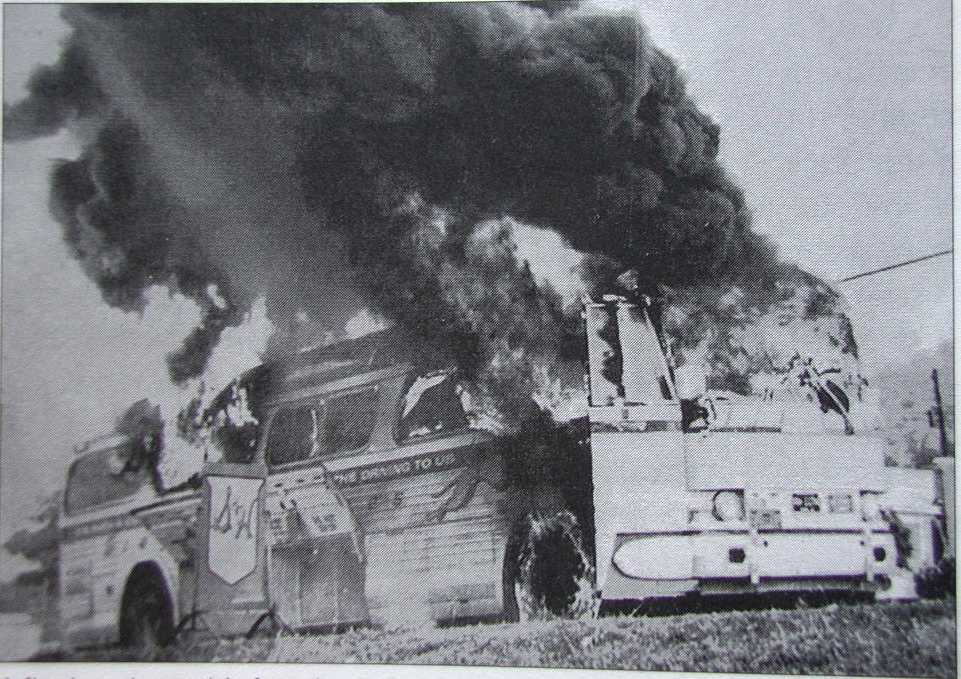 Another picture of the burning bus