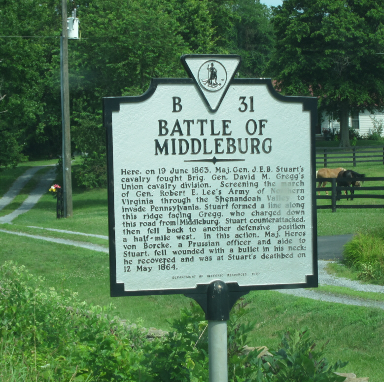 Historical marker for the battle