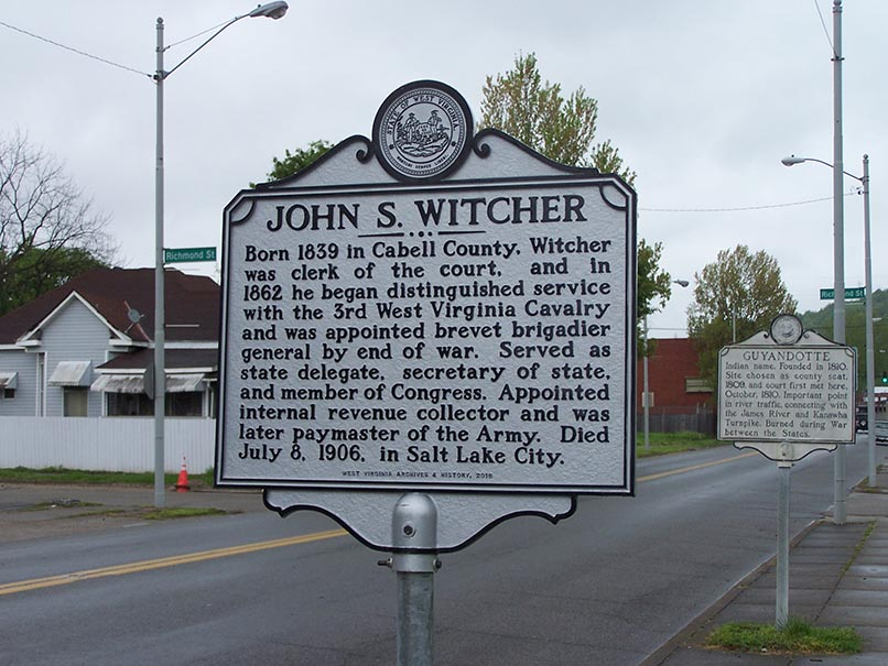 John S. Witcher Highway Historical Marker