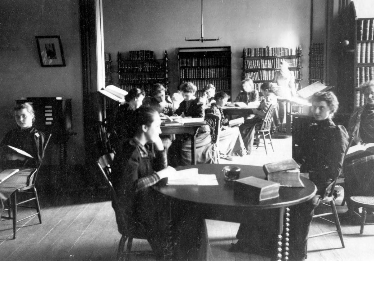 Library at Lake Erie College, ca. 1888-1892