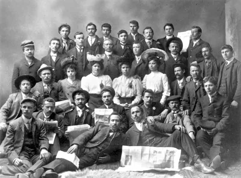Members of Barre's Italian community gather for a photo during the 1906 Primo Maggio (May Day) celebrations at the hall.