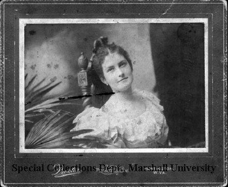 Caldwell's daughter, Onida Caldwell, circa 1890