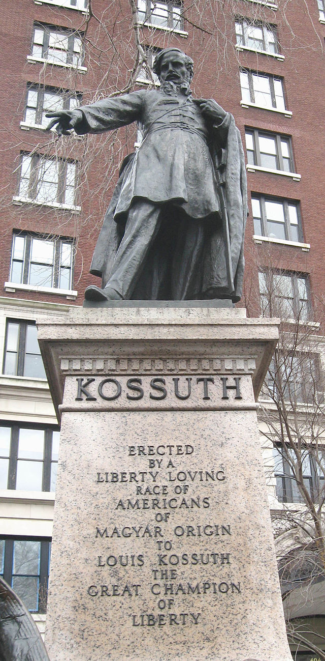 This statue to Hungarian revolutionary leader Lajos Kossuth was erected in 1928