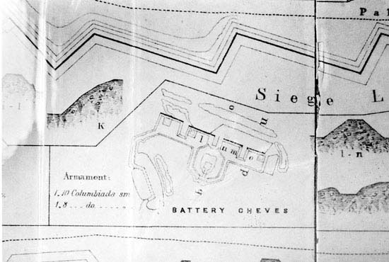 Map of Battery Cheves