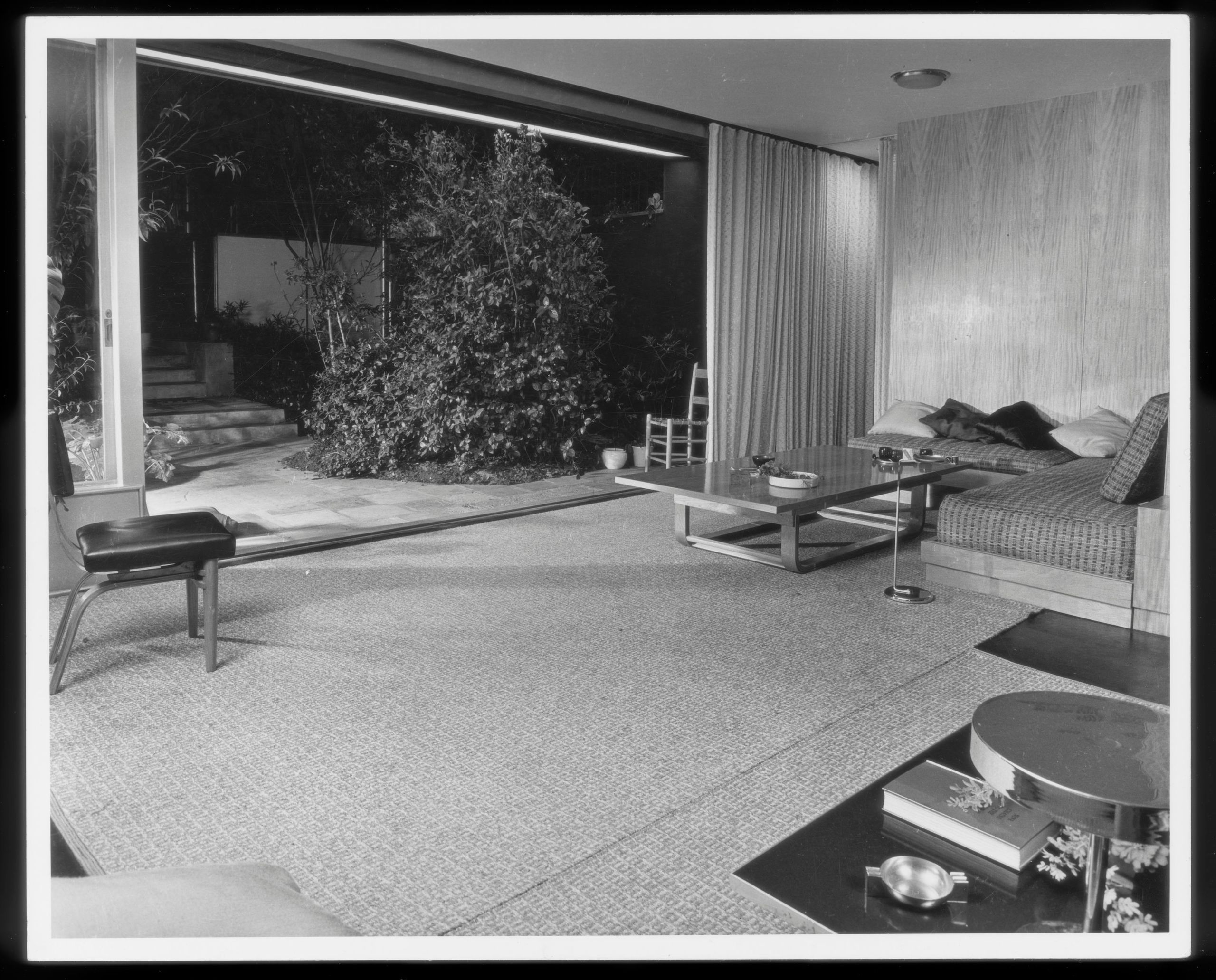 The 1939 Garden House with its large opening to the exterior garden patio.