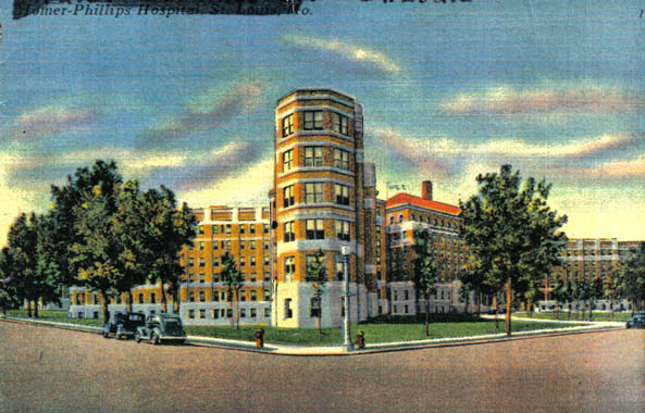 This historic postcard shows the hospital shortly after its completion in 1937.