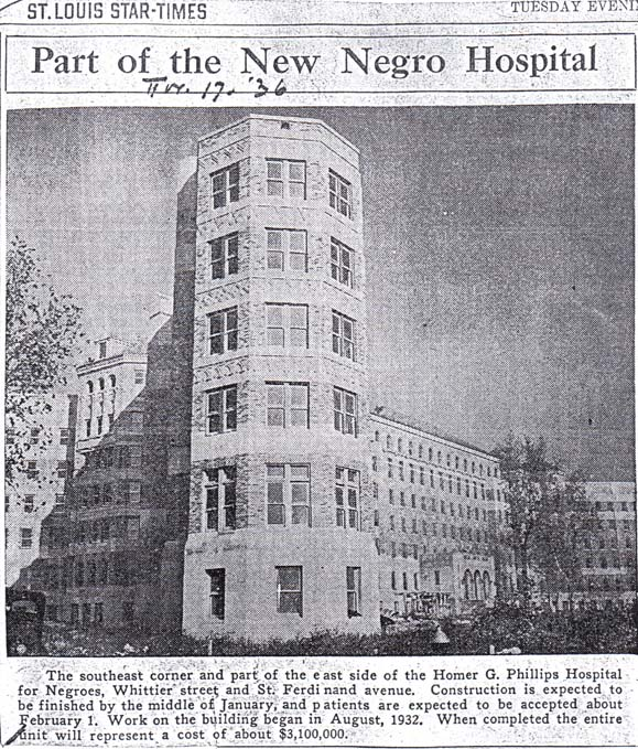 St. Louis Star-Times, reports the building is nearly complete in late 1936.