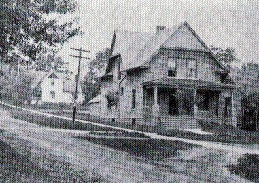 Edward Samuel Barnes House, south and east elevations, 1907