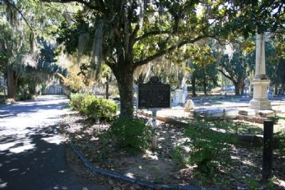 Marker at the Live Oak Cemetery
