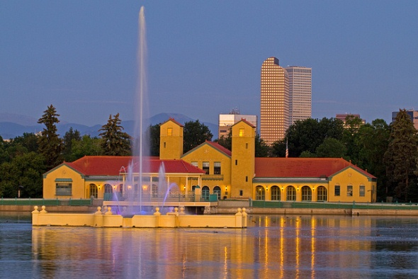 Pavilion and Boat House skyline image w/ fountain
