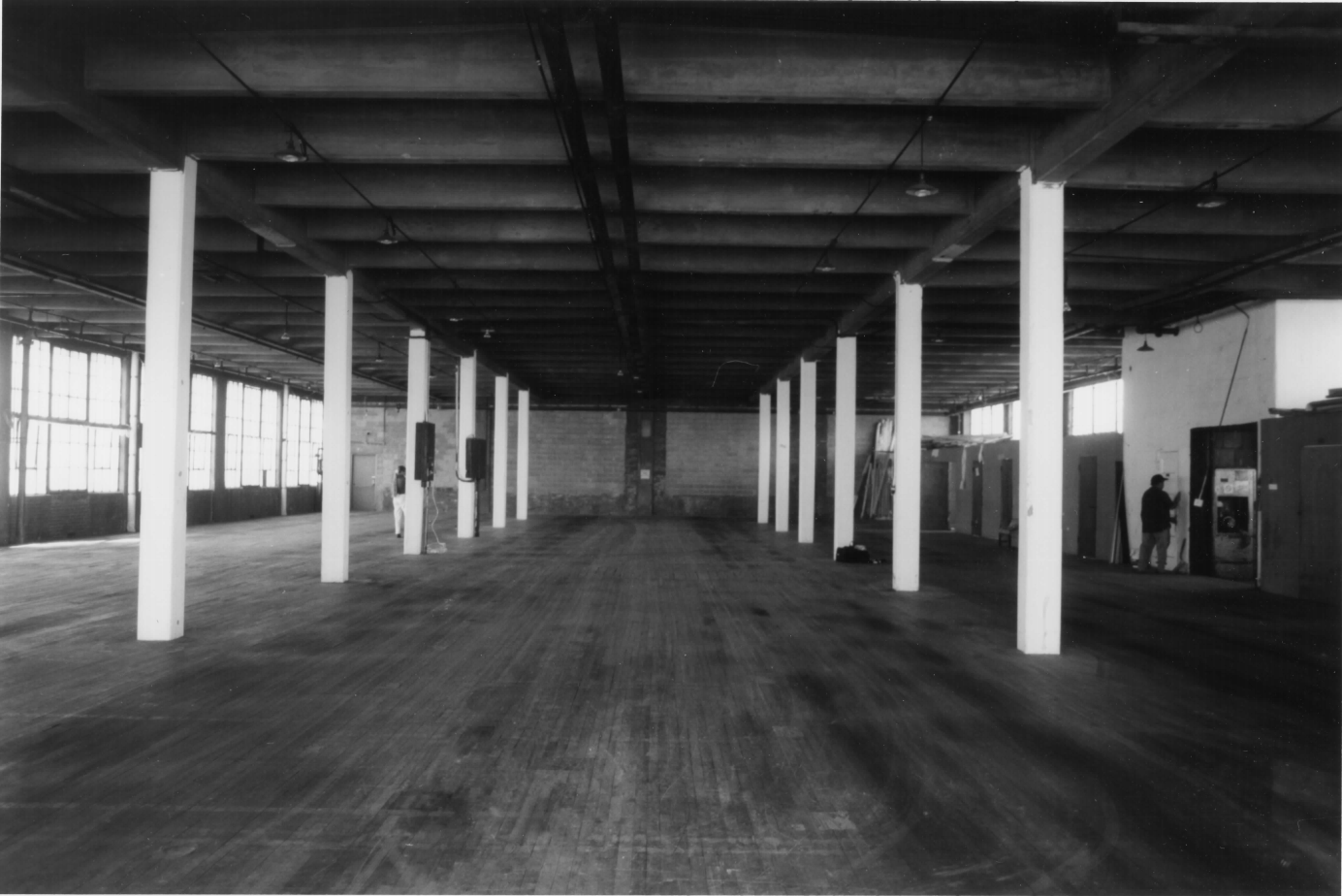 Inside the former factory 1998
