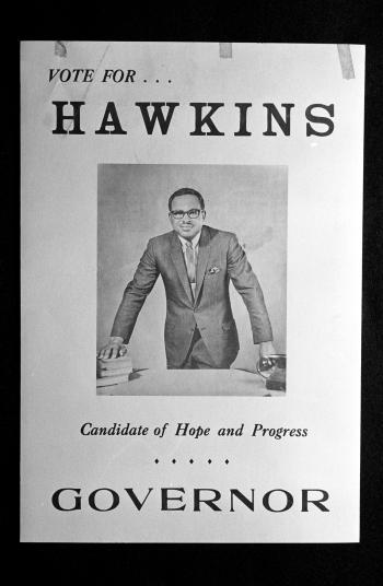 Reginald Hawkins Election Poster