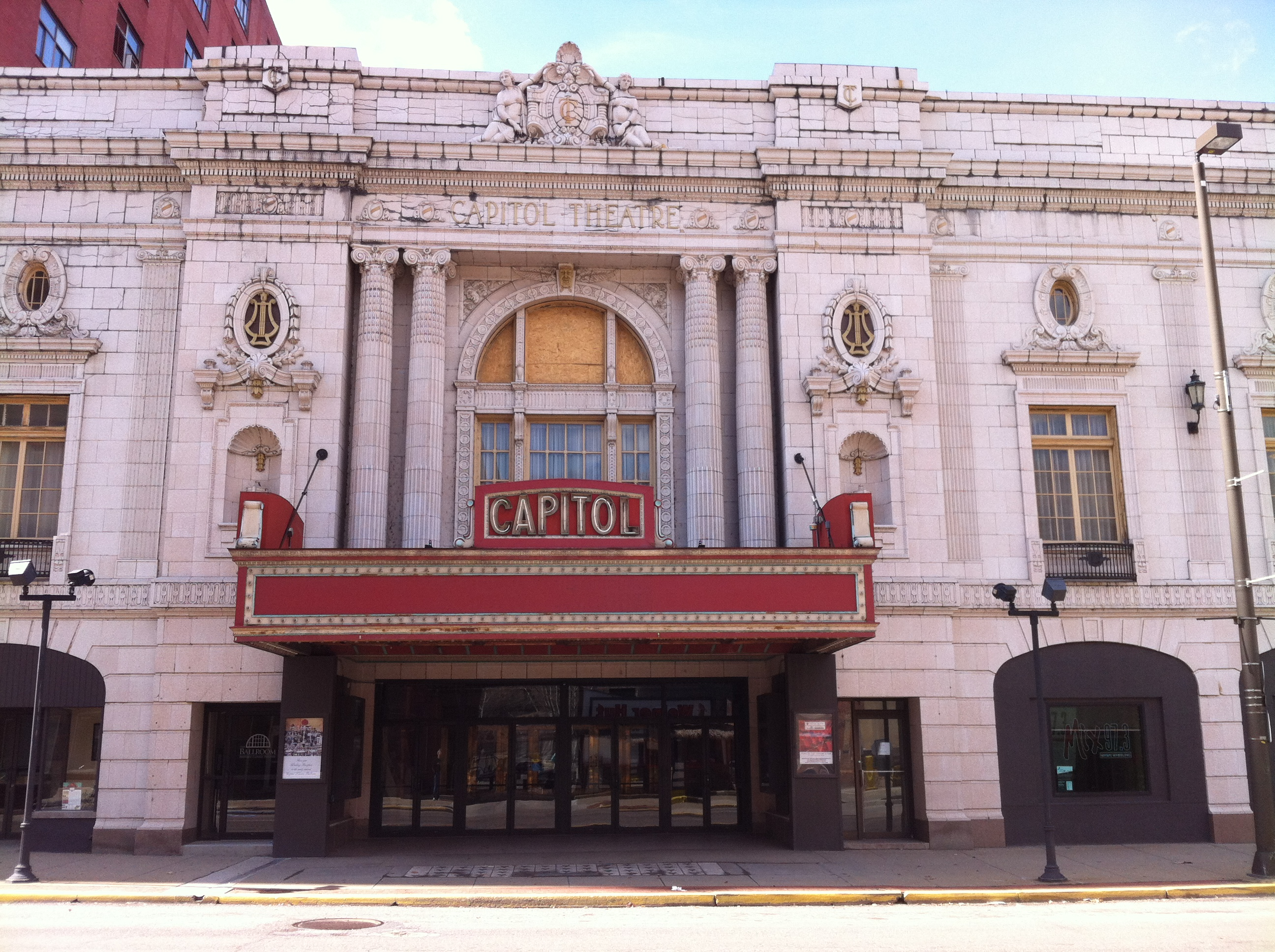 The Capitol Theatre opened in 1928. Thanks to the efforts of preservationists, it once again hosts events and performances.