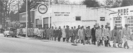 Freedom march by Claflin and South Carolina State College students, 1956.