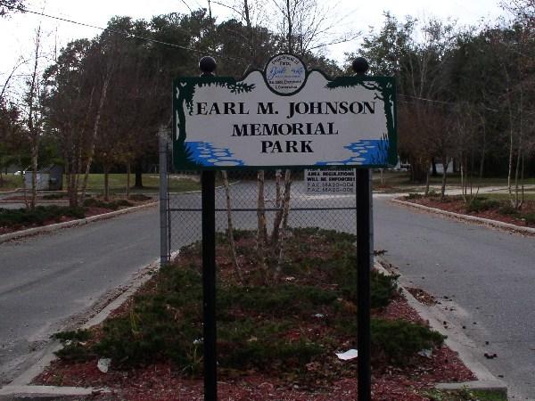 Sign at Earl Jonson Memorial Park