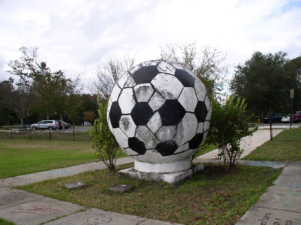 Giant Soccer Ball Sculpture