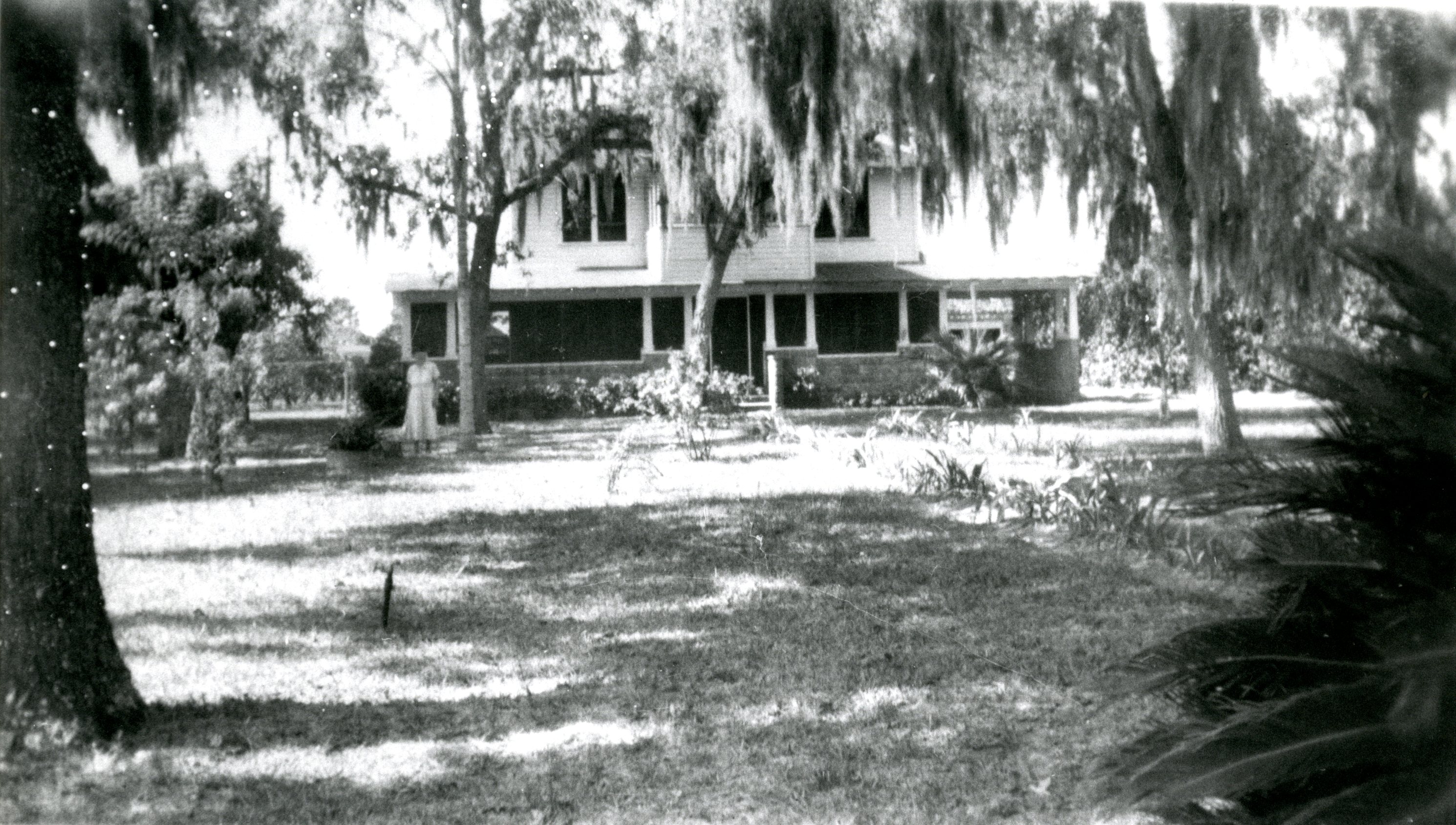 Walsingham House at original site, Largo, Florida, 1949.