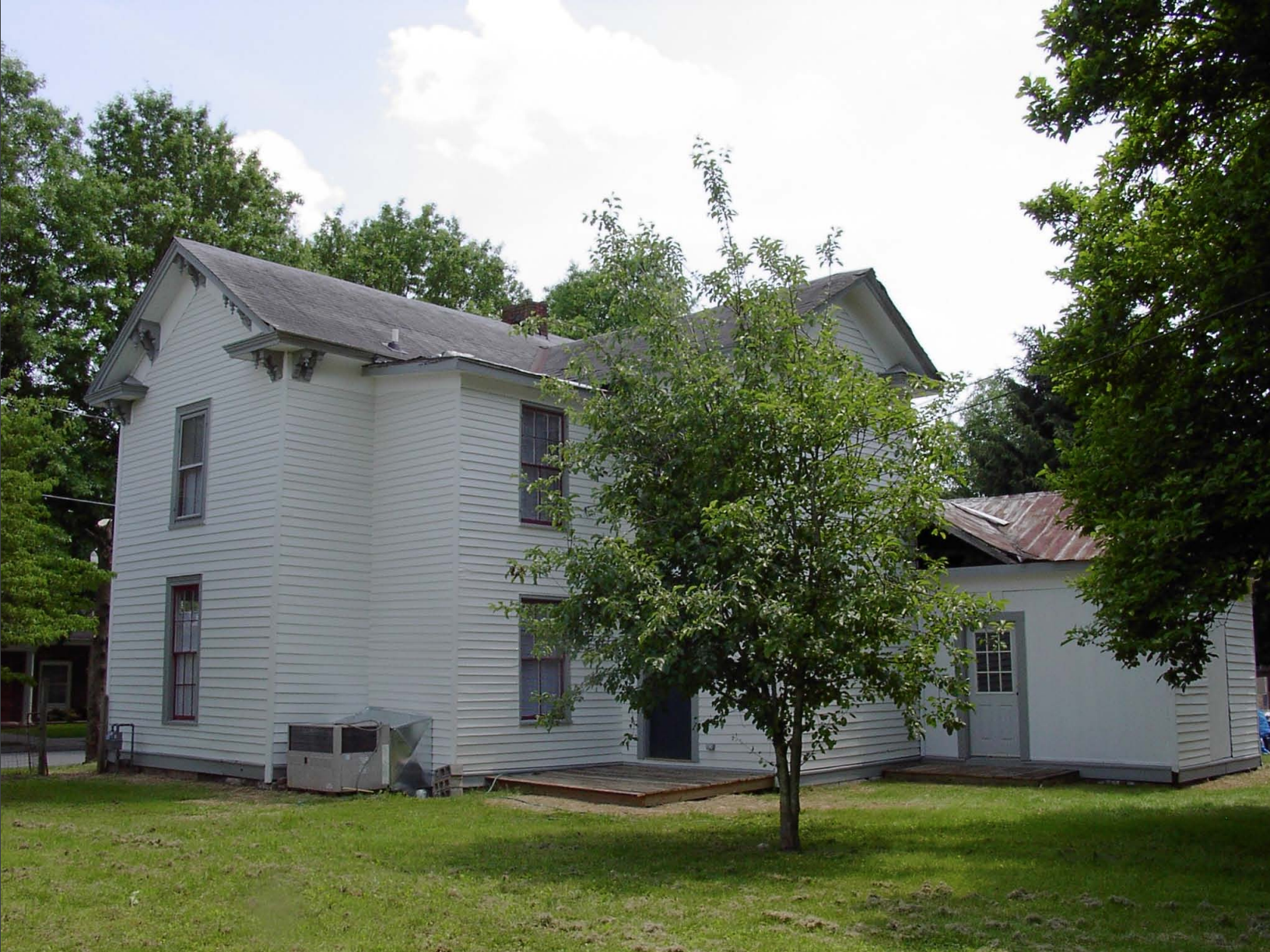 Rear view of the house in 2008