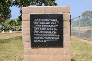 Second marker concerning the Mormon Battalion at the mission. Mormon communities had recently fled violent persecution in Missouri and Iowa, but had not obtained permission to settle in a permanent homestead anywhere in the United States.