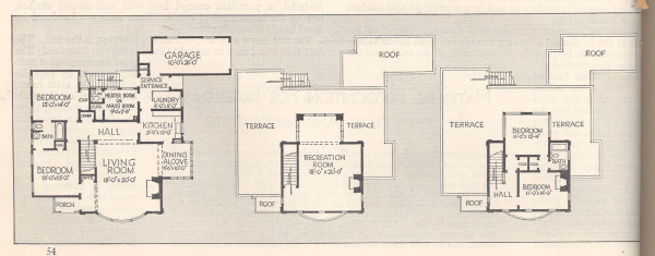 Floor-plan of the house from Good Housekeeping Magazine