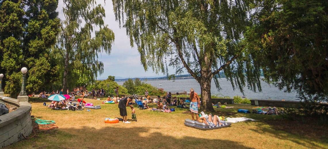 Denny Blaine Park on a sunny day