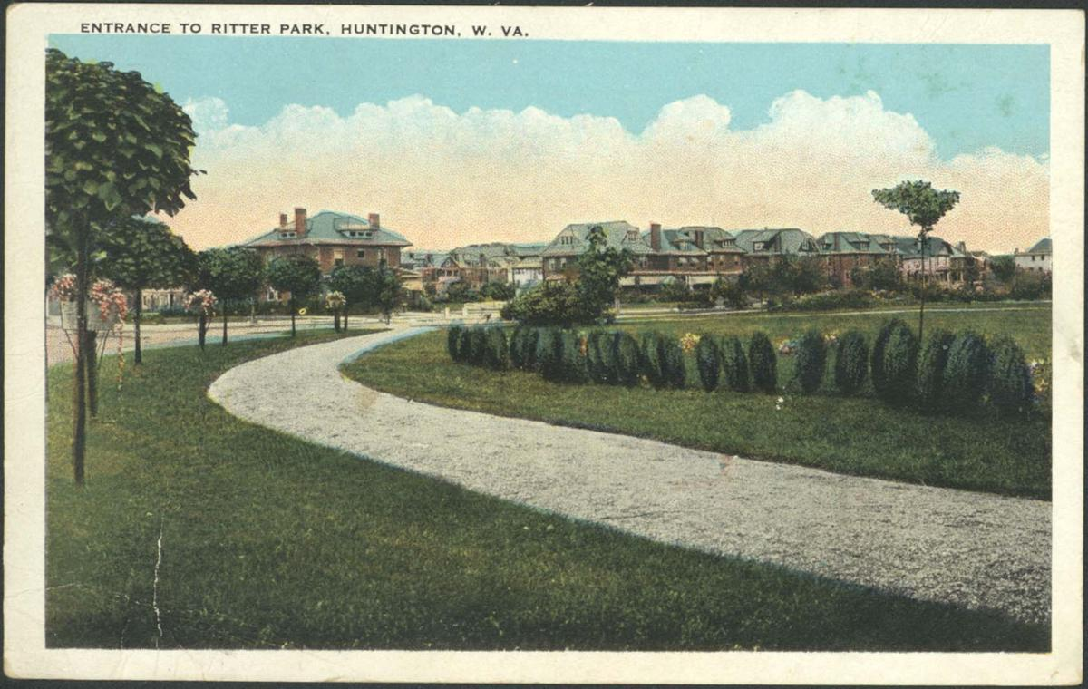 A view from inside Ritter Park looking toward 8th Street