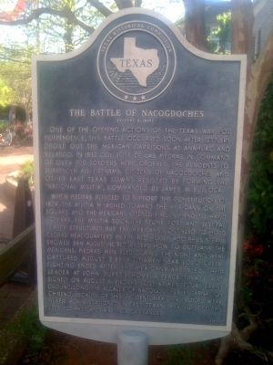 The Battle of Nacogdoches occurred on August 2-3, 1832 and resulted in a defeat for the Mexicans.