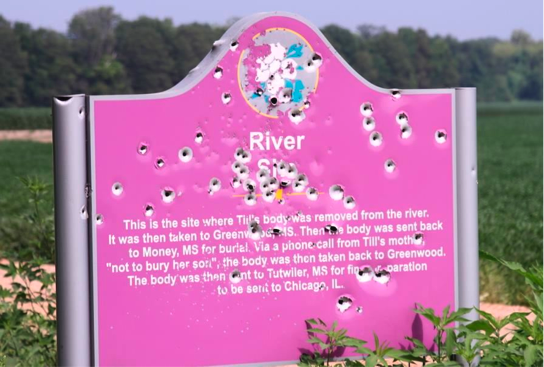 River Sign at the confluence of Black Bayou/Tallahatchie River