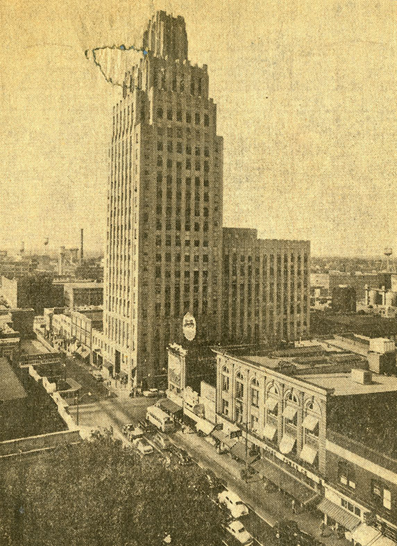The building in its early days, before the Winston Tower was constructed.