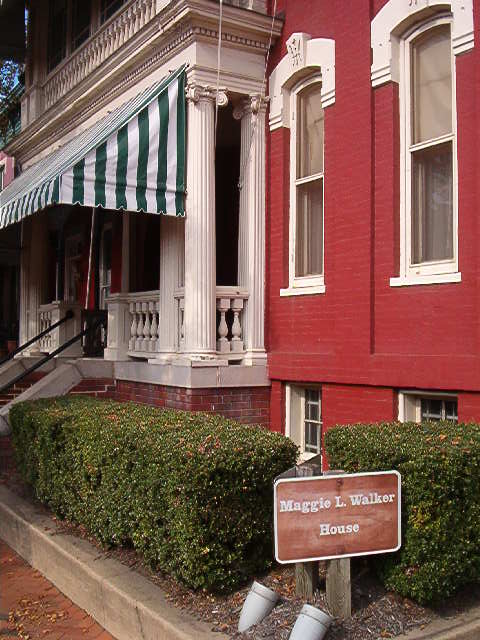 """The Maggie L. Walker house in """"Quality Row"""" in Jackson Ward."""