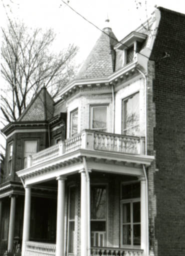 circa 1978. One of the many homes found in the District. Courtesy of VCU