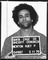 Huey Newton arrest mugshot.
