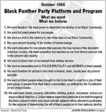 Black Panther Pamphlet, What We Want, What We Believe.