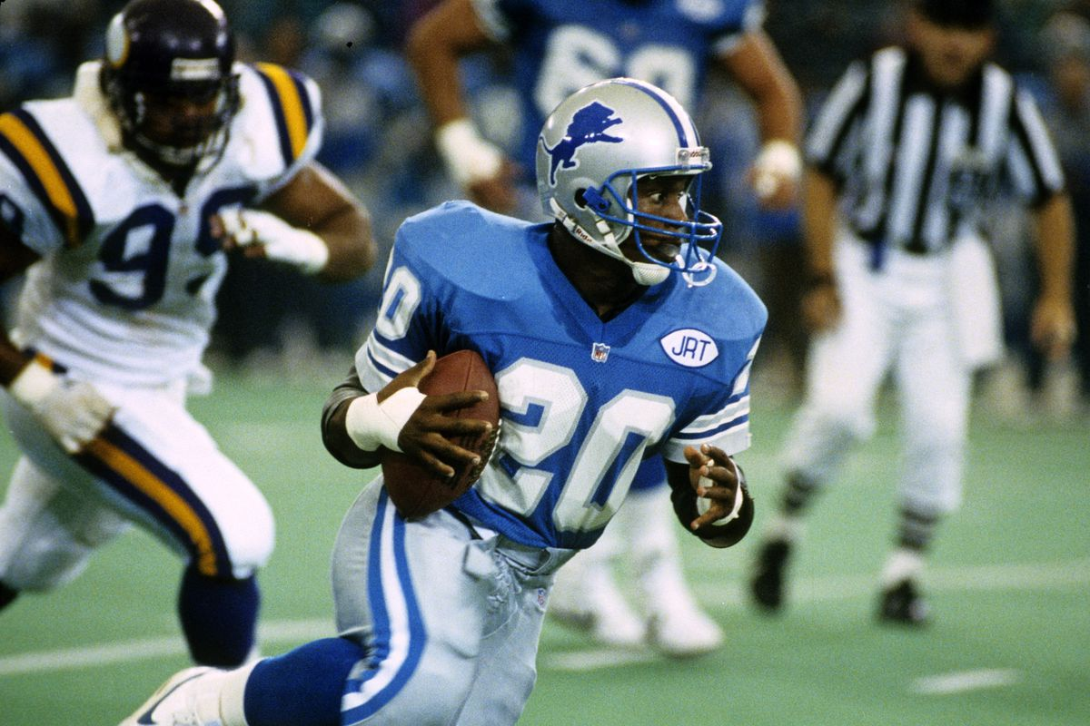 Barry Sanders in action