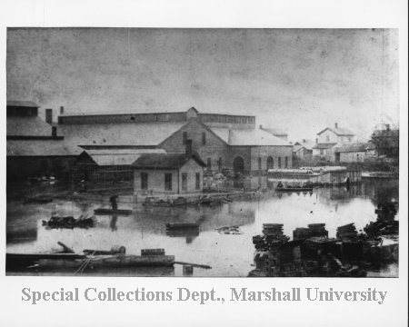 Ensign Manufacturing plant during 1884 flood