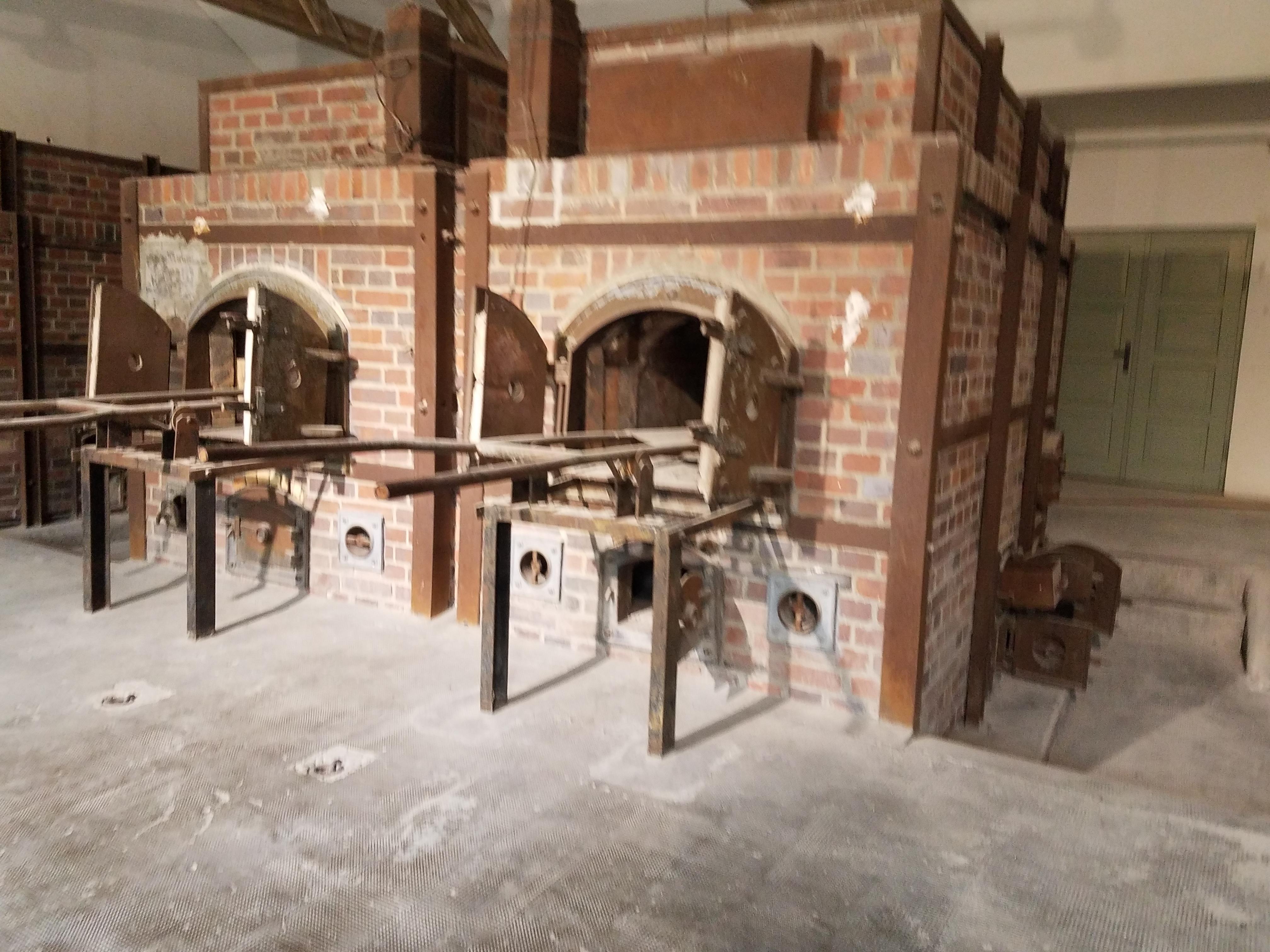 Crematorium next to gas chamber