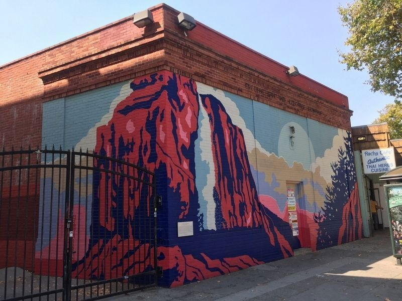 Mural on the side of the building at 2525 Telegraph Avenue, which once housed Chiura Obata's studio and gallery