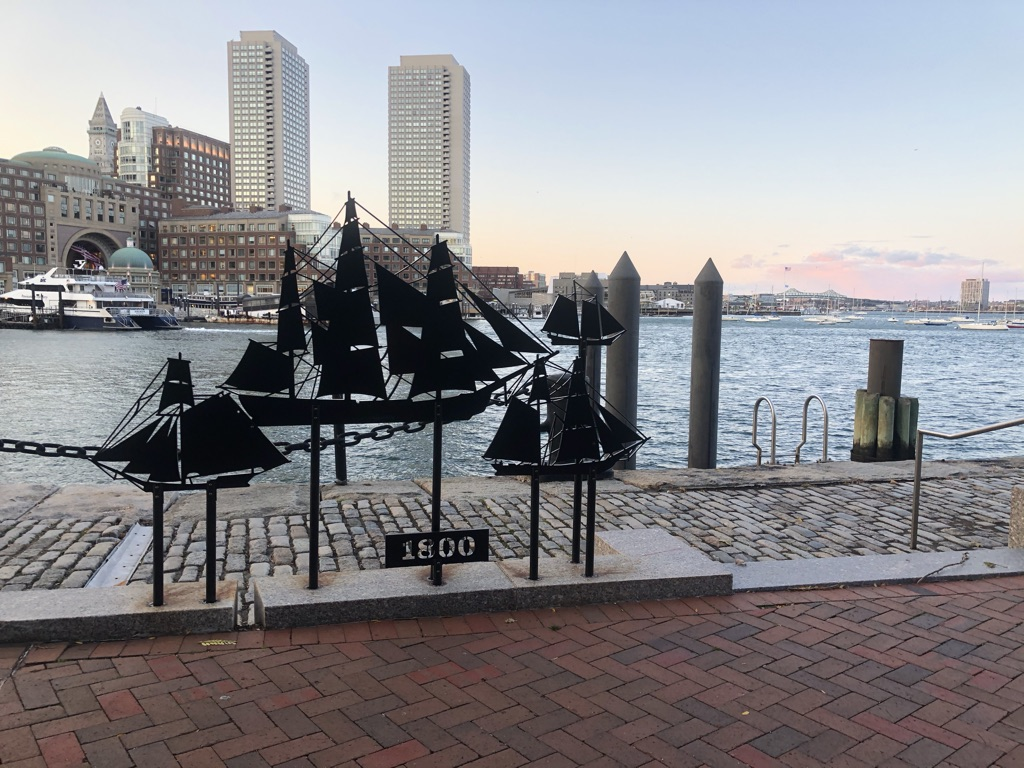 One of the many stops by the Boston Harborwalk project.