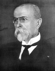 Photograph of the first president of Czechoslovakia from 1925.