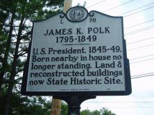 James K. Polk Highway Marker