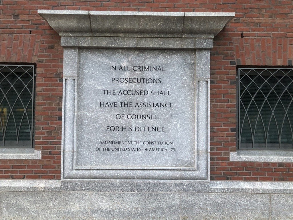 One of the many inscriptions on the outside of the building.