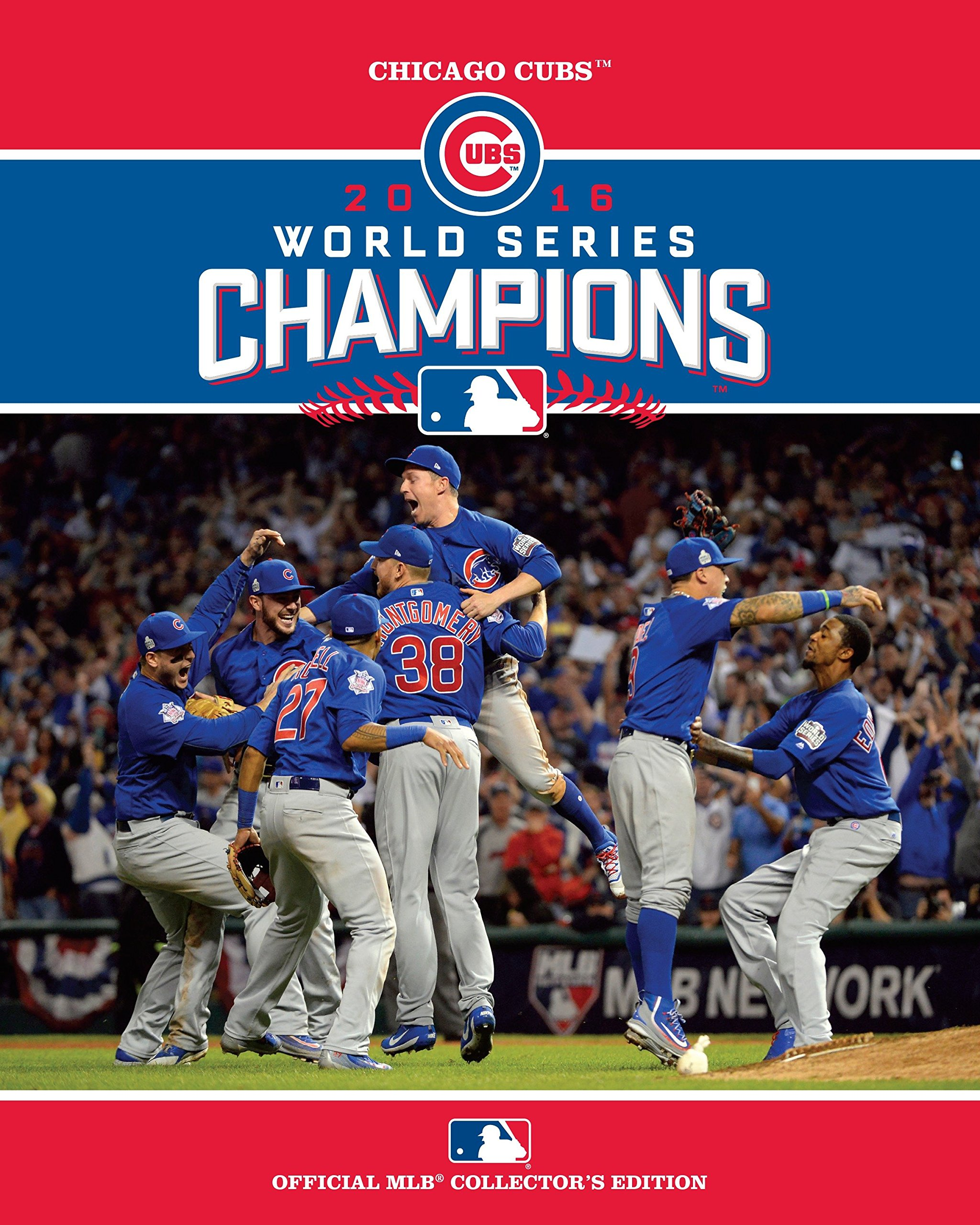 Chicago Cubs celebrating their 2016 World Series Championship to end the 108 year drought.