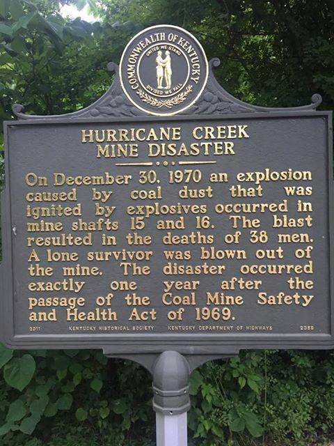 Hurricane Creek Mine Disaster Historical Marker