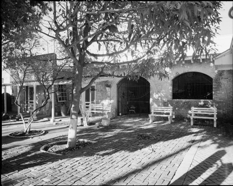 Patio on west side of Stillman House plus old stable and carriage house (Engdahl 1979)