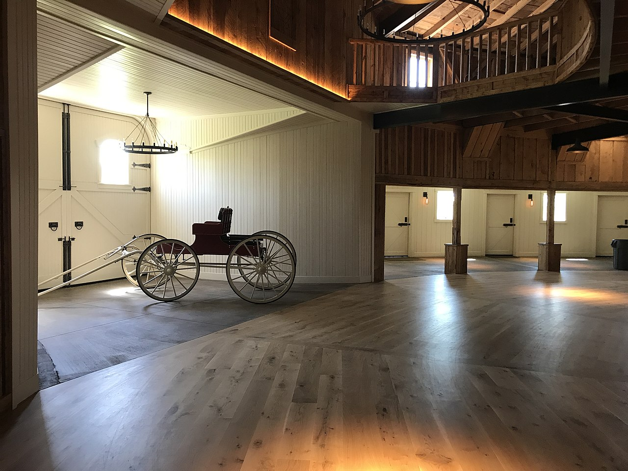 The barn is a popular wedding and event venue.
